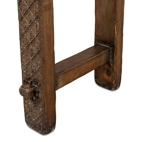Honeycomb & Cross Console Table