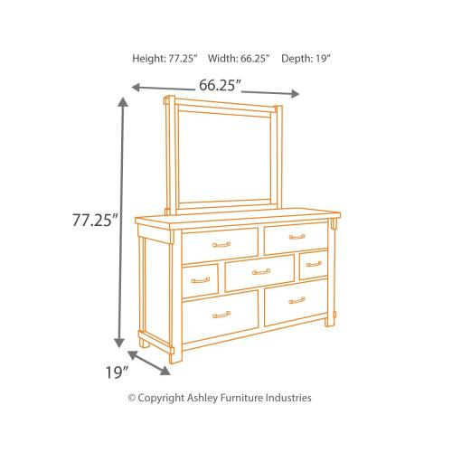 Signature Design By Ashley - Lakeleigh Dresser and Mirror