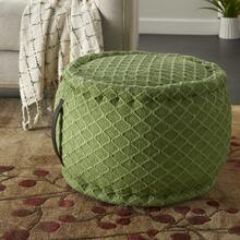 "Outdoor Pillow As696 Green 20"" X 20"" X 12"" Pouf"