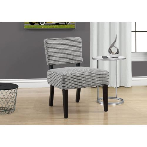 Gallery - ACCENT CHAIR - LIGHT GREY / BLACK ABSTRACT DOT FABRIC