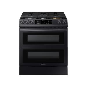 Samsung Appliances6.3 cu ft. Smart Slide-in Gas Range with Flex Duo™, Smart Dial & Air Fry in Black Stainless Steel