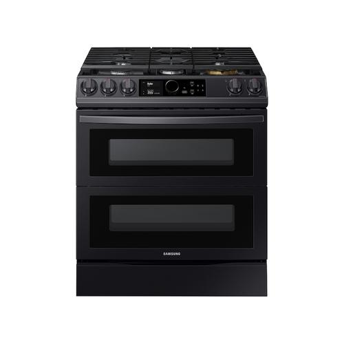 6.3 cu ft. Smart Slide-in Gas Range with Flex Duo™, Smart Dial & Air Fry in Black Stainless Steel