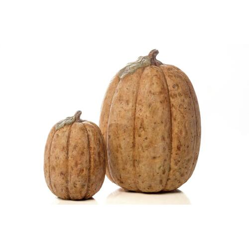 Large Tall Homespun Pumpkin