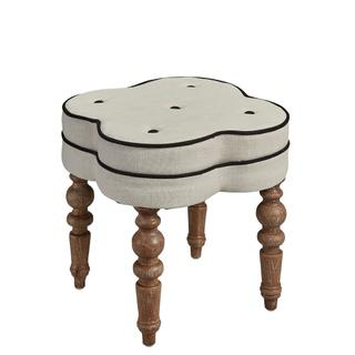 See Details - Linen Foot Stool