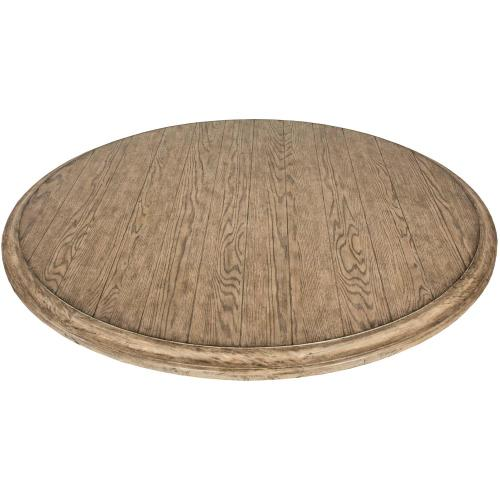 "Elizabeth - 70"" Round Dining Table Top - Antique Oak Finish"