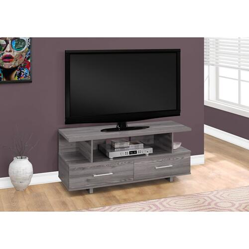 """Gallery - TV STAND - 48""""L / GREY WITH 2 STORAGE DRAWERS"""