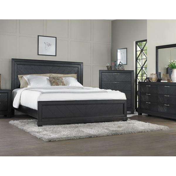 Montana Dark Oak King 4-Piece Set(King Bed/DR/MR/NS)