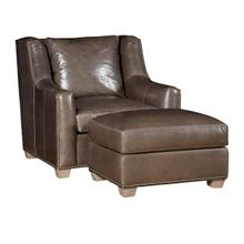 See Details - Drake Leather Chair, Drake Leather Ottoman