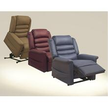 Pow'r Lift Full Lay-Out Chaise Recliner - Cabernet