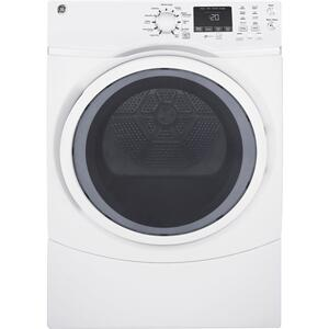 GE ®7.5 Cu. Ft. Capacity Front Load Electric Dryer With Steam