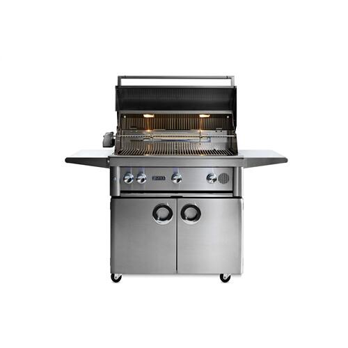 "36"" Lynx Professional Freestanding Smart Grill with Rotisserie, NG"