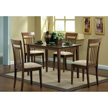 DINING SET - 5PCS SET / WALNUT FINISH