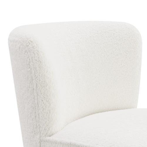 Armless Chair - White
