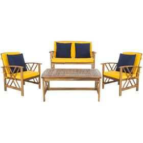 Fontana 4 PC Outdoor Set - Natural / Yellow