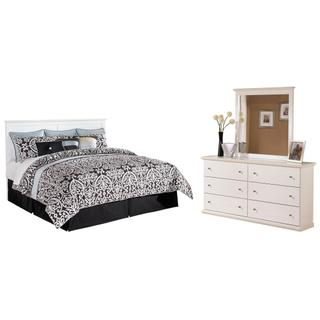 See Details - King/california King Panel Headboard With Mirrored Dresser