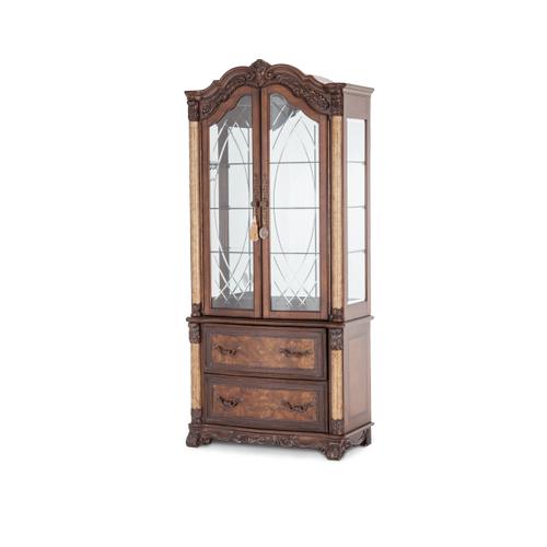 Victoria Palace Display Cabinet w/Doors Light Espresso