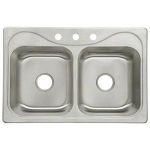 "Southhaven® Double Basin Sink, 33"" x 22"" x 8-1/2"" Product Image"