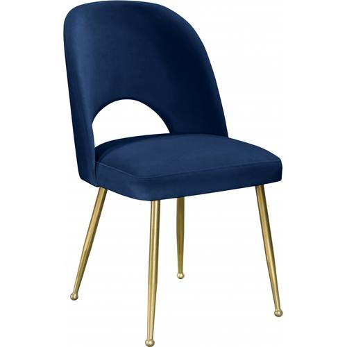 "Logan Velvet Dining Chair - 20"" W x 21.5"" D x 34.5"" H"