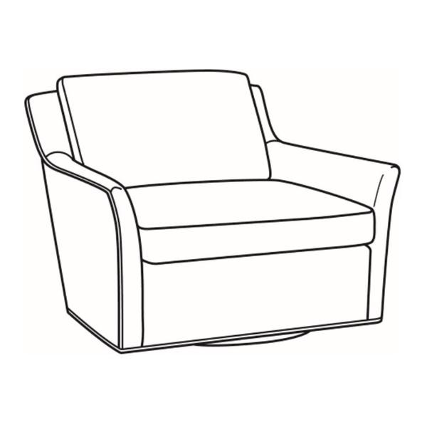 See Details - Leather Chair-and-a-Half Swivel