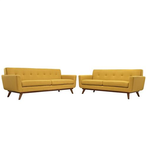 Engage Loveseat and Sofa Set of 2 in Citrus