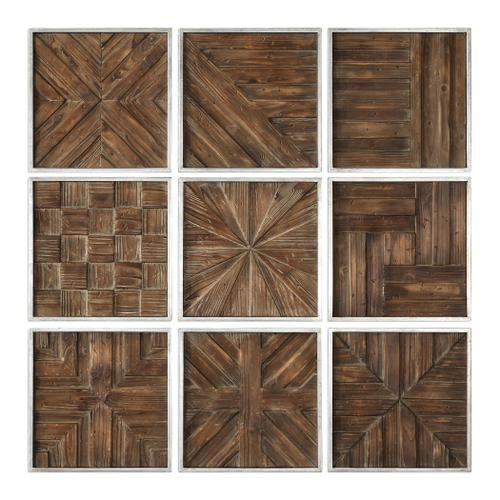 Bryndle Squares Wood Wall Decor S/9