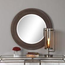 Aziza Bronze Round Mirror