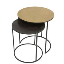 Nesting Side Table - Mixed Metal Finish