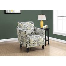 ACCENT CHAIR - EARTH TONE FLORAL FABRIC