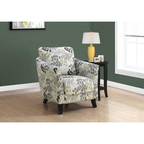 Gallery - ACCENT CHAIR - EARTH TONE FLORAL FABRIC