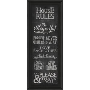 """House Rules"" By Susan Ball Framed Print Wall Art"