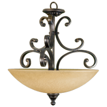 Alpine Series 1 Light Hanging Pendant Bowl - Rb Enlarged To 20' Glass