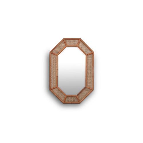 Sheraton Oval Rattan Mirror