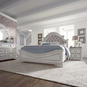 Liberty Furniture Industries - King Uph Bed, Dresser & Mirror, Night Stand