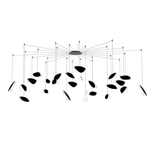 Sonneman - A Way of Light - Papillons LED Pendant [Size=24-Light Swag, Color/Finish=Satin Black Shade]