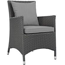 Sojourn Dining Outdoor Patio Sunbrella® Armchair in Canvas Gray