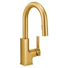 Product Image - STo Brushed gold one-handle high arc pulldown kitchen faucet