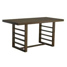 Summerlin Counter Height Trestle Dining Table, Dark Brown