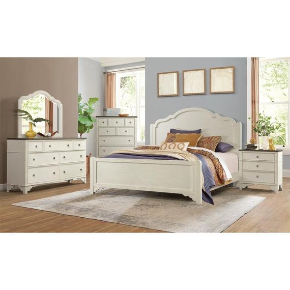 Riverside - Grand Haven - Three Drawer Nightstand - Feathered White/rich Charcoal Finish
