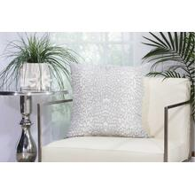 "Outdoor Pillows As524 Grey 20"" X 20"" Throw Pillow"
