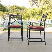 Palermo Cast Aluminum Bar Height Stools (Set of Two)