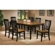 """See Details - 5Pc Set 78"""" Leg Table with 18"""" Butterfly Leaf"""