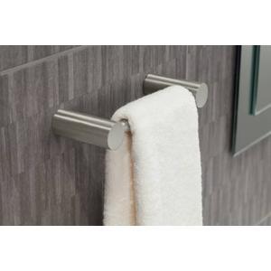 Align brushed nickel hand towel bar