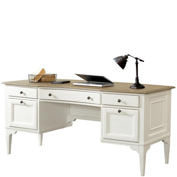 Riverside - Myra - Writing Desk - Natural/paperwhite Finish