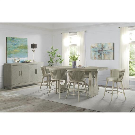 Riverside - Lilly - Rectangular Counter Height Dining Table - Champagne Finish