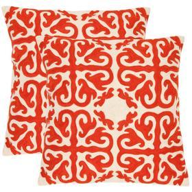 Moroccan Pillow - Orange Sunburst