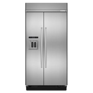 Kitchenaid48-Inch width built-in side by side refrigerator with printscield™ finish - Other