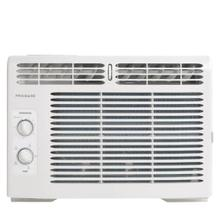 "ffra05l1r1 3.7 out of 5 stars. Read reviews for 5,000 BTU Window-Mounted Room Air Conditioner 3.7 ( 10 ) Write a review . This action will open a modal dialog. This product is available at select retailers. Register This Product Guides & Manuals expand English Espa ol Fran ais Complete Owner's Guide Download Email Wiring Diagram Download Email Installation Instructions Download Email Energy Guide Download Email Propietario completa Gu a Download Email Instrucciones de instalaci n Download Email Guide d'utilisation complet Download Email Instructions d'installation Download Email FAQs expand What is the proper way to clean my air filter"" The air filter should be checked at least once a month to see if cleaning is necessary. Be sure to unplug the unit before cleaning to prevent shock or fire hazards. To clean the filter, open the front panel and remove. The air filter is reusable and may be cleaned using liquid dishwashing detergent and warm water. After cleaning allow the filter to thoroughly dry before replacing. You may also vacuum the air filter to remove excess dirt and particles. Can my room air conditioner be covered while in use to prevent outdoor debris from getting inside vents"" Proper air flow into the air conditioner is essential for performance and safe operation. Under no circumstances should you block or cover any exterior or interior vents of the unit. How does the power cord work on my air conditioner"" When should I test the plug"" For your safety all Frigidaire air conditioners feature a 3-prong grounding plug and current leakage detection device. These enhanced plugs help to detect damages to the power cord and can be tested following a few simple steps. 1. Press the reset button 2. Plug the cord into the power outlet 3. Press the test button, the reset button should pop up 4. Press reset button for use 5. Do not use room air conditioner if above test fails. For more information please consult your use and care manual. What is the additional vent located under my air louvers"" On select models, you may notice a small tab identified with Open / Fresh Air / Closed. This fresh air vent allows the air conditioner to: 1. Recirculate inside air - Vent Closed 2. Draw fresh air into the room - Fresh Air 3. Expel indoor air outside - Vent Open. Note: When in the cool mode fresh air venting or exhaust venting will affect cooling and decrease performance. I have noticed water dripping outside of my room air conditioner, is this normal"" Water dripping outside is a normal function of the room air conditioner, especially during periods of excessive humidity. If condensation need to be directed, window air conditioners have a key hole drain in the bottom of the unit where one could connect a 1/2"" drain hose for safe disposal of excess system water. Part: EA150D / 5304481680. Never drill holes into the bottom of the room air conditioner to remove water. If water is dripping inside the room during the cooling, this is due to improper installation. Please refer to installation instructions or check with your local installer. I have noticed that my ENERGY STAR air conditioner is frequently in Econ mode"" For all new ENERGY STAR products the EPA has regulated that all ENERGY STAR air conditioners must be factory set to Energy Saver (Econ) mode. If you turn the room air conditioner off in cool mode, and restart the unit it will default back into Energy Saver mode. You may select out of Energy Saver mode by selecting the mode button, however we recommend using the feature to help save energy. What is Econ mode"" Econ mode, or Energy Saver mode, is a setting that works similar to central AC. The room air conditioner will turn off once the set temp is reached; the fan then cycles on (for 20 sec.) every 10 min to sample the air temp. If the room temp is above the set temp, the compressor will turn back on. Since the room air conditioner is not running at all times, this setting will help save energy while ensuring the room temperature stays at the set temperature. What does the Clean Air button do"" When this feature is on, the electronic air purifier is energized to remove pollen and impurities from the air. To cancel this feature, press the Clean Air button. What is a BTU"" It is a professional term rating an air conditioner. BTU stands for British Thermal Unit - the quantity of heat required to raise the temperature of one pound of water one degrees Fahrenheit. The higher the BTU the larger space the room air conditioner will cool. What size window unit do I need"" The size of the window unit needed will depend on the size of the room you wish to cool. To determine which size you need, measure the width of the room by the length and multiply those numbers together to determine the square footage. What happens if I lose power"" After a power outage, the unit will memorize the last setting and return the unit to the same setting once power is restored. What does Sleep Mode mean"" When this mode is enabled, the selected temperature will increase by 2 °F 30 minutes after the mode is selected. The temperature will then increase by another 2 °F after an additional 30 minutes. This new temperature will be maintained for 7 hours before returning to the originally selected temperature. This ends the ""Sleep"" mode and the unit will continue to operate as originally programmed. You may also cancel sleep mode at any time by again pressing the sleep button. Why is my room air conditioner making noise"" Room Air Conditioners, during operation, may make noise. It is normal to hear high pitch chatter' a sound of rushing air, gurgle/hiss, pinging or swishing and vibration. These are all normal. For more definition of noises, please refer to your product's Use and Care guide. How do I store my room air conditioner for winter storage"" If you plan to store the air conditioner during the winter, remove it carefully from the window according to the installation instructions. Cover it with plastic or return it to its original carton. NOTE: To prevent rust or electrical connections from being damaged, store air conditioner in an upright position and a dry place. Why is my Filter Reset light on"" This feature is a reminder to clean the Air Filter (refer to Care and Cleaning section of the Use and Care Guide) for more efficient operation. The LED light will illuminate after 250 hours of operation. After cleaning the filter, plug the unit back into the power source and reset the filter by pressing the Filter Reset' button and the light will go off. Specifications expand print GENERAL SPECIFICATIONS Power Type: Size: Installation Type: Collection: Reviews expand Reviews Write a review . This action will open a modal dialog. Rating Snapshot Select a row below to filter reviews. 5 stars 3 3 reviews with 5 stars. Select to filter reviews with 5 stars. 4 stars 5 5 reviews with 4 stars. Select to filter reviews with 4 stars. 3 stars 0 0 reviews with 3 stars. Select to filter reviews with 3 stars. 2 stars 0 0 reviews with 2 stars. Select to filter reviews with 2 stars. 1 stars 2 2 reviews with 1 star. Select to filter reviews with 1 star. Average Customer Ratings Overall 3.7 1-8 of 10 Reviews Sort by: Most Recent Menu Most Helpful Highest to Lowest Rating Lowest to Highest Rating Most Recent Filter Reviews Clicking on the following button will update the content below Rating Menu Filter by Rating 1 star 2 stars 3 stars 4 stars 5 stars Active Filters 1 star Remove Filter 2 stars Remove Filter 3 stars Remove Filter 4 stars Remove Filter 5 stars Remove Filter Clear All Clear All Filters * Incentivized review 5 out of 5 stars. Maine1234 14 days ago Great product Great product!!! It doesn't take long to cool the area off. Helpful"" Yes 0 0 people found this review helpful. Click to agree. No 0 0 people did not find this review helpful. Click to agree. Report * Incentivized review 4 out of 5 stars. Tim and Susan a year ago Works great. Our large room, 13x15 with almost 10 foot ceilings takes a little while to cool down. However, once it is cool this unit can keep it that way. Easy to install. Yes , I recommend this product. Helpful"" Yes 0 0 people found this review helpful. Click to agree. No 0 0 people did not find this review helpful. Click to agree. Report Response from Frigidaire: Online Outreach Representative 11 months ago Hi, Tim and Susan. Thanks for your rating and feedback about your Frigidaire 5,000 BTU Window-Mounted Room Air Conditioner. We always appreciate our fellow Frigidaire ambassadors who take the time to give us their feedback. Happy to hear you are enjoying the performance of your air conditioner unit. Should you need us, we can be reached at 888 203 1389. Our Customer Care Team is available Monday through Friday from 8am-8pm EST and Saturday from 9am-6pm EST. Regards- Derrick * Incentivized review 5 out of 5 stars. Mmont a year ago Freezing! I bought this air conditioner in May, it is not September and I'm still loving it! Even on the most humid hundred degree days this little air conditioner kept my room freezing. Its also very efficient, as my electric bill remained unaffected all summer. Yes , I recommend this product. Helpful"" Yes 0 0 people found this review helpful. Click to agree. No 0 0 people did not find this review helpful. Click to agree. Report Response from Frigidaire: Online Outreach Representative 11 months ago Hiya, Mmont. Thank you for the wonderful comments. We aim to please! Great to hear our home comfort appliance is keeping cool even on those muggy days and saving you some coins! Should you need us or have any additional questions about your air conditioner's features, please contact us at 888 203 1389. Our specialists are ready to assist Monday through Friday from 8am-8pm EST and Saturday from 9am-6pm EST. Kind Regards- Derrick * Incentivized review 4 out of 5 stars. DeeAnne a year ago small size, big heart! My home is 800 sq ft and while the unit mainly cools the main living room, it keeps the other rooms tolerable. Yes , I recommend this product. Helpful"" Yes 0 0 people found this review helpful. Click to agree. No 0 0 people did not find this review helpful. Click to agree. Report * Incentivized review 4 out of 5 stars. Moncrief a year ago Ok It works great! Needs a remote control but otherwise no issues. Light and easy to install Yes , I recommend this product. Helpful"" Yes 0 0 people found this review helpful. Click to agree. No 0 0 people did not find this review helpful. Click to agree. Report * Incentivized review 1 out of 5 stars. Gomby a year ago Little engine that couldn't We use it in our 12x12 room and it fails to cool even this small space. It was very inexpensive though. No , I do not recommend this product. Helpful"" Yes 0 0 people found this review helpful. Click to agree. No 0 0 people did not find this review helpful. Click to agree. Report Response from Frigidaire: Online Outreach Specialist a year ago Sorry to hear that you feel this way, Gomby. We recommend you have doors, windows, registers, closed to prevent air escapes. Also, do you have any type of blockage preventing even air flow"" You may contact us at 1-888-203-1389 Monday-Friday 8am-8pm and Saturday 8am-6pm EST for any additional questions to evaluate this matter further. Kindly, Maggie * Incentivized review 4 out of 5 stars. misslady482 a year ago Great for the price For the price, this little AC does a good job. It's actually cooled more area than expected. The only reason I gave it 4 stars instead of 5 is there's no auto features. It'd be nice to have these features in the smaller AC units too. Due to my window size and 2nd floor installation, it has to be small. Yes , I recommend this product. Helpful"" Yes 0 0 people found this review helpful. Click to agree. No 0 0 people did not find this review helpful. Click to agree. Report * Incentivized review 4 out of 5 stars. NYSport a year ago Does the job Got this a few weeks ago so far works great using in 12x12 bedroom. Haven't used on highest setting yet leaves room comfortable for sleeping and the price was very affordable. Yes , I recommend this product. Helpful"" Yes 0 0 people found this review helpful. Click to agree. No 0 0 people did not find this review helpful. Click to agree. Report 1-8 of 10 Reviews Previous Reviews Next Reviews This product has been successfully added to your cart! Go back to product page"
