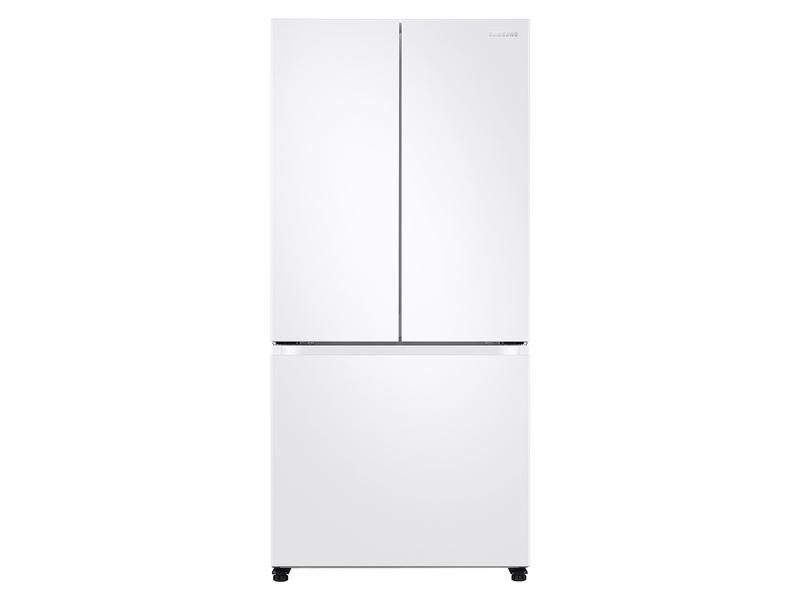 Samsung19.5 Cu. Ft. Smart 3-Door French Door Refrigerator In White