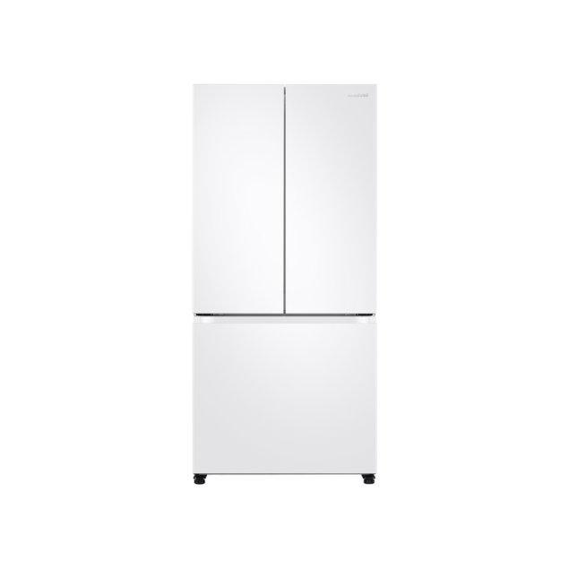 Samsung Appliances 19.5 cu. ft. Smart 3-Door French Door Refrigerator in White
