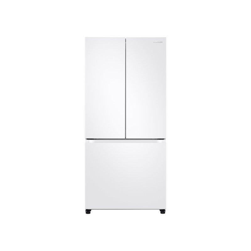 19.5 cu. ft. Smart 3-Door French Door Refrigerator in White